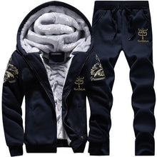 Tracksuit Men Camouflage Army Casual Hooded Warm Sweatshirt Male Winter Thick Inner Fleece 2PC Jacket+Pant Men Moleton Masculino