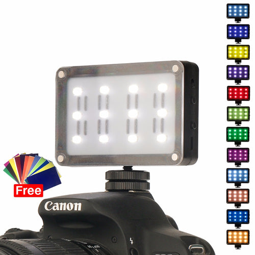 Ulanzi on Camera LED Video Light Pocket Photo Studio Light with Filters Color Gels for DSLR Zhiyun Smooth 4 SPG VS Aputure AL-M9