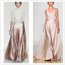 WBCTW Satin Flare Maxi Wide Leg Pants Women Autumn High Waist Solid Pink 10XL Trousers 2018 Woman Skirts Pants Plus Size 1