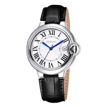 WEIQIN Date Silver Case Genuine Leather Straps Watches Women Water Resistant Lady Fashion Casual Rome Style Watch Clock s