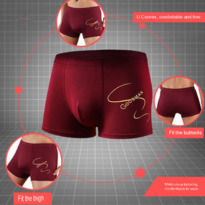 WTEMPO Newest Sexy Brand Underwear Men U Convex Boxer Underpants Soft Breathable Panties Shorts Sexy Gay Slip Boxers 4pcs/Lot