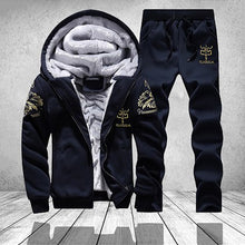 Winter Warm Hoodie Men Thick Inner Fleece Casual Hooded Sweatshirts Male Tracksuit 2PC Jacket+Pant Men Clothes Moleton Masculino