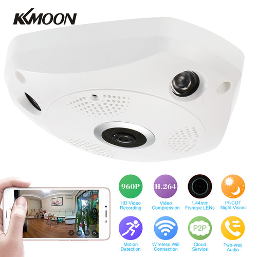 Wireless CCTV 360 Degree Panoramic Camera Fisheye Camera HD 960P 1.3MP WIFI IP Camera Home Security Surveillance Camera System
