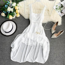 Women Sexy Summer Dresses Vestidos 2019 New Beach Sleeveless Spaghetti Strap Boho Vintage Dress Ladies Lace Patchwork Long Robe
