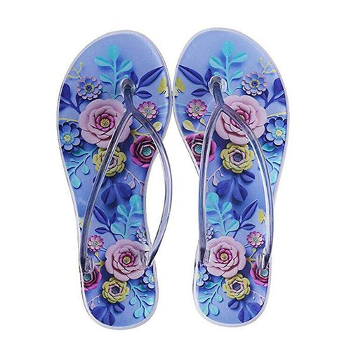 Women's Sandals 2019 Summer New Arrival Spilt Toe Women Flip Flops Sandal Outdoor Comfortable Flat Print Beach Women Jelly Shoes