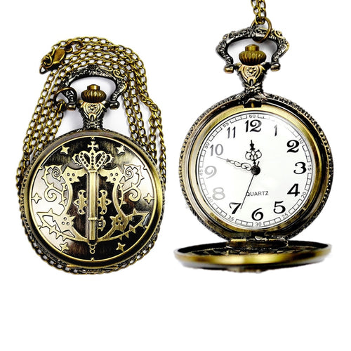 Womens Mens Quartz Pocket Watch 1 PC Victorian Style Vintage Watch Necklace Magic Wand Watch Pendant On Chain Wholesale 30M15