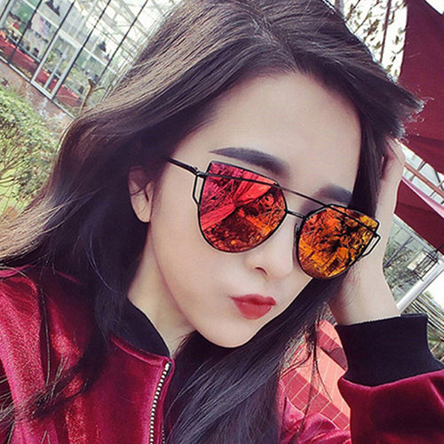 XIESIQING New Fashion Sunglasses  Women Glasses Cat Eye Sun Glasses Male Mirror Sunglasses Men Glasses PC Frame Glasses