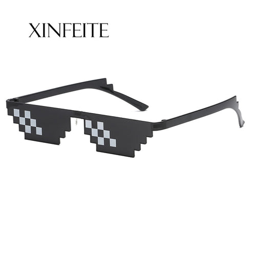 Xinfeite Sunglasses 8 Bit MLG Pixelated Sun Glasses Thug Life Party Eyeglasses Mosaic Vintage Eyewear For Men Women X503
