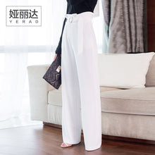 YERAD Women's Paperbag Waist Pants High Waist Full Length Wide Leg Pants Fashion Femme Summer Palazzo Trousers