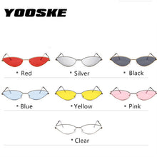 YOOSKE Cute Sexy Cat Eye Sunglasses Women 2018 Retro Small Frame Black Red Cateye Sun Glasses Female Vintage Shades for Women