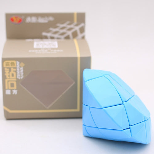 Yongjun YJ Diamand Strange Shape Cube Yellow Blue Diamand Speed Puzzle Toys For Children