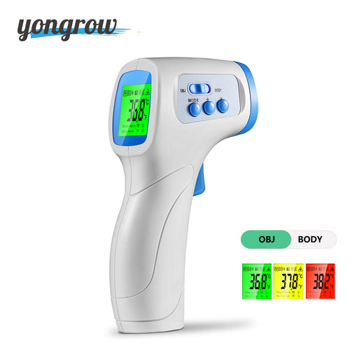 Yongrow Infrared Forehead Thermometer Gun Portable Digital Non-contact Body/Object Temperature Measure IR Device for Fever Baby