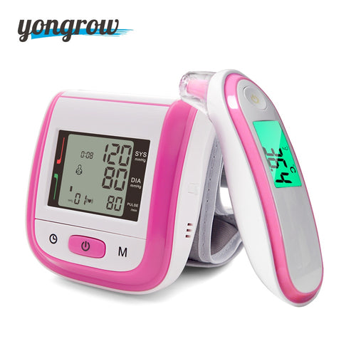 Yongrow Wrist Blood Pressure Monitor And Baby Infrared Digital Forehead Ear Thermometer