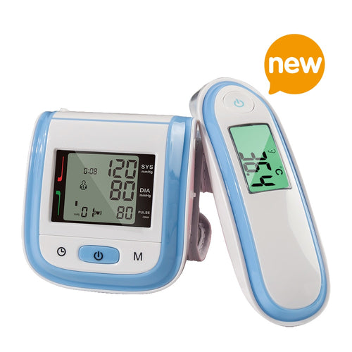 Yongrow Wrist Blood Pressure Monitor & Body Infrared Thermometer Digital With Health Care (Multi-Colors)