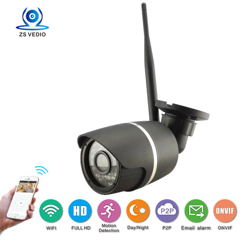 ZSSP WIFI wireless hd 1080P 2.0 MP camera security outdoor ONVIF P2P monitoring camera system CCTV supports mobile browsing