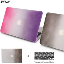 ZVRUA Beautiful Rainbow laptop Case for MacBook Air 13 for apple mac book 13.3 inch + keyboard cover