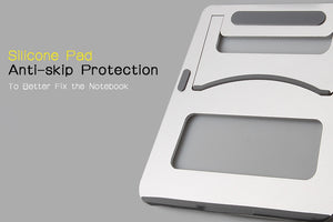 ZVRUA Laptop Stand Portable Tablet Holder Aluminium Laptop Stands For MacBook Air Mac Book Pro 120 Degree Tablet Mount Soporte