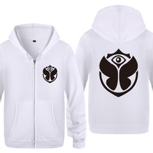 Zipper Hoodies Men Electronic Music Tomorrowland Printed Mens Hoodie Hip Hop Fleece Long Sleeve Man's Jacket Sweatshirt Skate