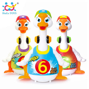 HUILE TOYS 828 Baby Toys Electric Hip Pop Dance Read & Tell Story & Interactive Swing Goose Kids Learning Educational Toys Gifts
