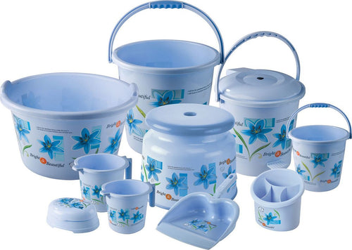 Joyo Jumbo Printed Bathroom Set (10 pcs)