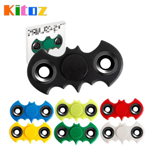 Batman Bat Shape Finger Spinner Toy Plastic Spiner Beyblade Rotating Top Adult Kids Hand Anti Anxiety Stress ADHD EDC Toy