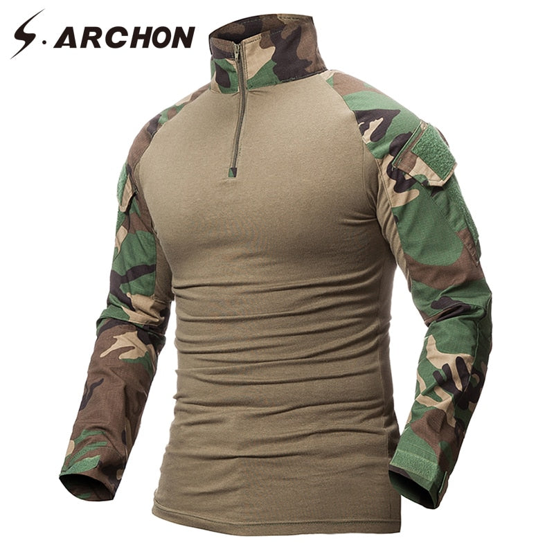 3323c63efb50 ... S.ARCHON Multicam Uniform Military Long Sleeve T Shirt Men Camouflage  Army Combat Shirt Airsoft ...