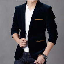 2018 mens blazer brand clothing casual suit Slim Jacket Single Button corduroy blazer men dress suits Terno Masculino plus size