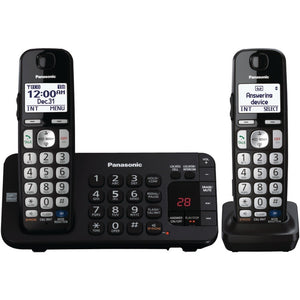 "Panasonic KX-TGE242B DECT 6.0 Plus Expandable Digital Cordless Answering System (2-Handset System) (""PANKXTGE242B"")"