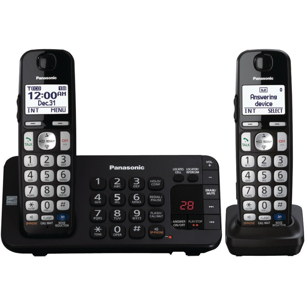 Panasonic KX-TGE242B DECT 6.0 Plus Expandable Digital Cordless Answering System (2-Handset System) (