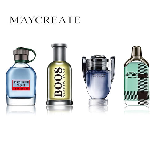 MayCreate 4Pcs/1Set Perfume for Men Lasting Fragrance Fashion Eau De Toilette Cologne Mini Bottle Portable Perfum Female Perfume