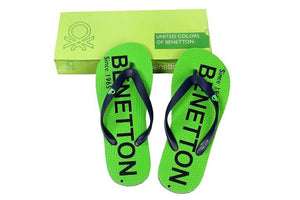 United Colors Of Benetton Green Slippers (Size 8-9)