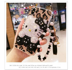 For BBK ViVO V7 V9 Y85 X21 UD X5L X5 X5V X9S X9 V5 X9 Plus Y67 PC+ TPU Hello Kitty full Rhinestone Case