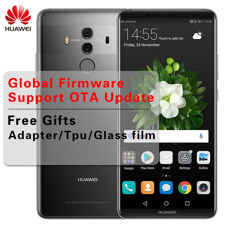 Huawei Mate 10 Pro Global Firmware Smartphone Android 8.0 Dual Rear 20MP+12MP 4000mAh 6.0