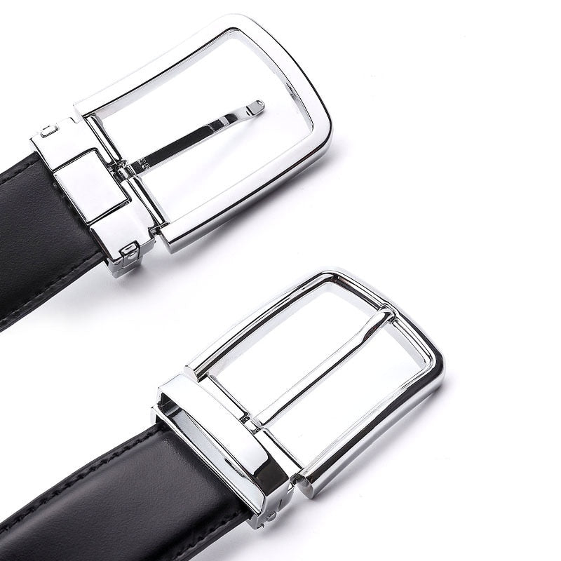 6b7201e8e ... Men s Formal Leather Belt Waist Metal Pin Buckle With Clip Belts Silver  Color Buckle For Men ...