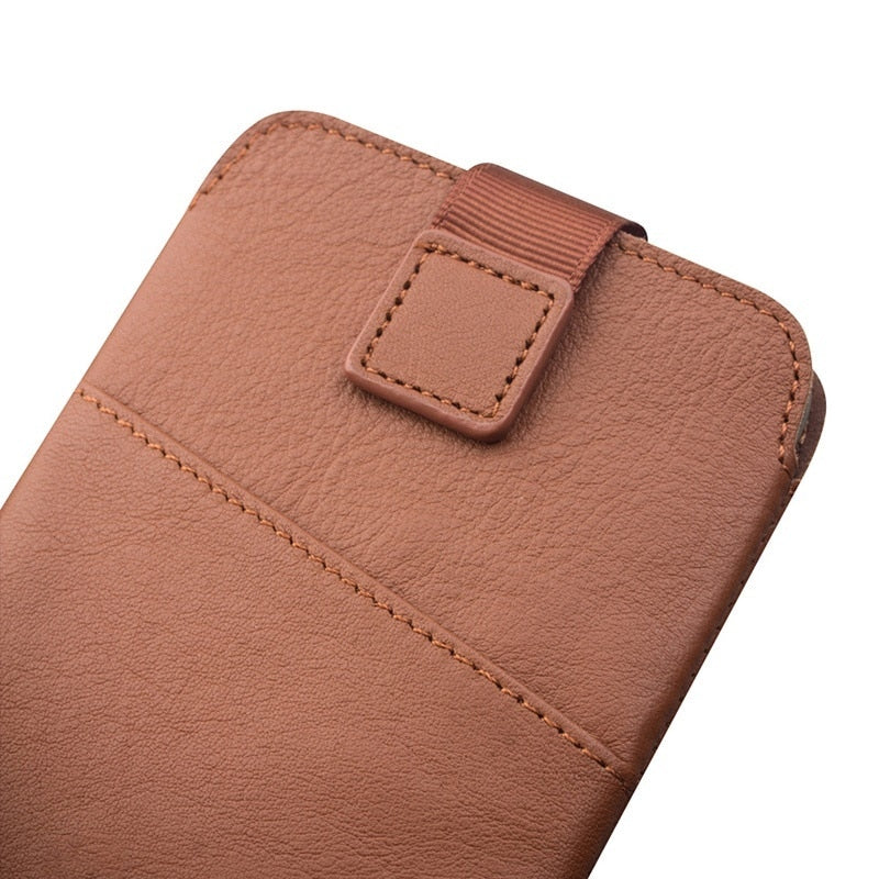 sale retailer 2df58 758c6 For Galaxy S8 Plus Case QIALINO Genuine Leather Sleeve Phone Pouch for  Samsung Galaxy S8+ SM-G955, Size: 158 x 80mm - Brown