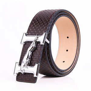 2018 H Jaguar Designers Luxury Cowhide Brand Genuine Leather Pin Buckle Belts for Mens High Quality Women Cowskin Ceinture Homme