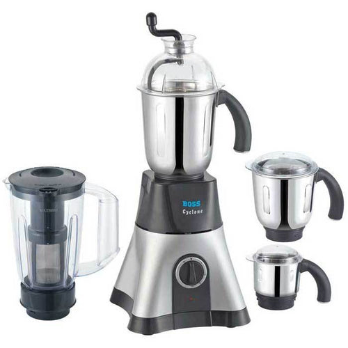 Boss Cyclone 750 Watts Mixer Grinder with 4 Jars (Boss B219)