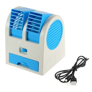 Mini Fan & Portable Dual Blade less Small Water Air