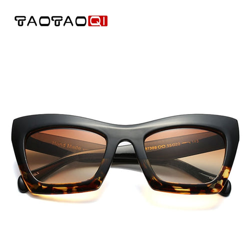 TAOTAOQI Square Cat eyewear Women's Sunglasses Fashion Sunglasses Women Brand Designer UV400 Large Frame Glasses Women 2018