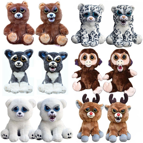Original Feisty Pets Stuffed Attitude Plush Toys Soft Stuffed Scary Face Animal Doll Christmas Gift