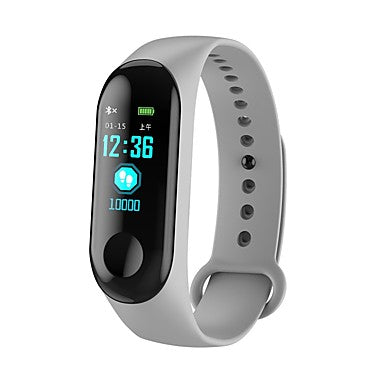 KUPENG M3C Smart Bracelet Smartwatch Android iOS Bluetooth Sports Waterproof Heart Rate Monitor Blood Pressure Measurement Touch Screen Pedometer Call Reminder Activity Tracker Sleep Tracker