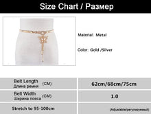 Women's Crystal Gold Belt Chain Elastic Stretch Metal Strap Silver Adjustable Luxury Chain Ceinture Waist Dress CM018