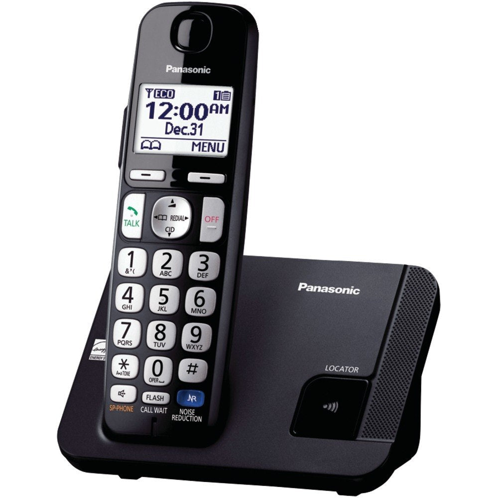 Panasonic KX-TGE210B DECT 6.0 Plus Amplified Expandable Digital Cordless Phone System (1-Handset System) (