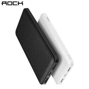 ROCK Slim 10000 mAh Power Bank,Portable Ultra-thin Polymer Powerbank battery power-bank 10000mah With LED Light for Mobile Phone