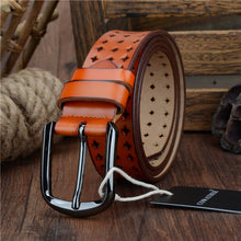 COWATHER 2017 new Women Cow Genuine leather belts hollow Korea fashion for women female pin buckle belt NQSK002 length 100-125CM