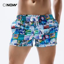 Men's Board Shorts printed and striped Quick Drying Shorts Beach Summer Beach Short Pants  fashion 2 Color Choice