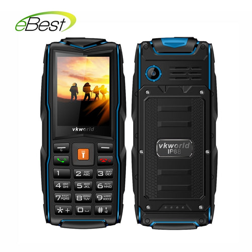VKWorld New Stone V3 Waterproof Mobile Phone IP68 2.4 inch GSM FM Russian Keyboard 3 SIM Cards Slot 3000mAh Cellphone