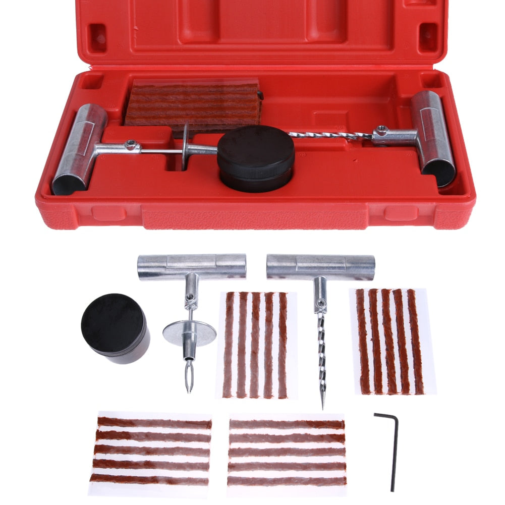 Motorcycle Car Tubeless Tyre Puncture Repair Kit Tire Tool Plug VehicleEmergency Fix Tools Car Accessories ME3L