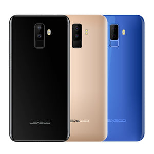"Leagoo M9 5.5"" 18:9 Full Screen Four-Cams Android 7.0 MT6580A Quad Core 2GB RAM 16GB ROM 8.0MP Fingerprint 3G WCDMA Mobile Phone"