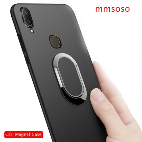Case For Vivo V9 / Vivo Y85 Case 360 Protection Soft Silicone Car Holder Magnetic Phone Cases For Vivo V9 / Vivo Y85 Cover